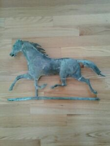 Beautiful Running Horse Weathervane Antique J W Fiske L K