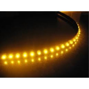 Yellow 6pcs 12v 12 Smd Flexible Led Strip Light Waterproof For Car Truck