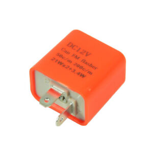 2 Pin 12v Electronic Led Flasher Relay Fix Turn Signal Bulbs Hyper Flash Issue