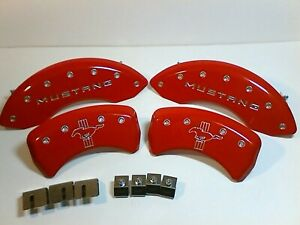 Ford Mustang Gt 5 0 2013 Red Mgp Caliper Covers Front Rear 10198smbprd New