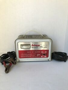 Vintage Schauer Model A6612 Battery Charger 6v 12v Tested Working