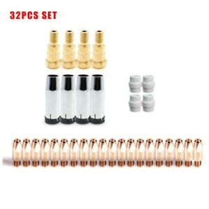 32pcs Mig 0 8mm Contact Tip Kit For Unimig Sb24 Binzel Mb24 Kd Aftermarket
