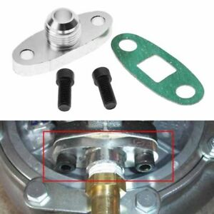 Turbo Oil Drain Outlet Flange Gasket Adapter Kit 10an Fitting T3 T4 T35 T40 T60