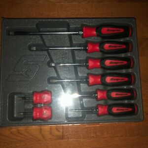 New Snap On 8 Piece Soft Grip Combination Screwdriver Set Sgdx80br Ships Free