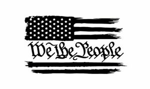 We The People Flag Usa American Vinyl Sticker Decal Car Truck Window Free Ship