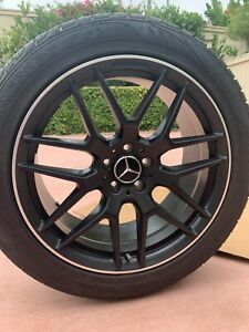20 Oem Factory Mercedes Amg Gls Gl550 Gl63 Gl550 Ml500 Black Wheels Toyo Tires