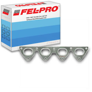 Fel Pro Exhaust Manifold Gasket Set For 1993 1997 Honda Civic Del Sol Felpro Hp