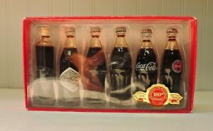 Limited Edition COCA-COLA 100th Anniversary MINIATURE CONTOUR BOTTLES Set