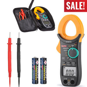 Digital Clamp Meter Tester Ac dc 6000 Counts Multimeter Auto Range Current Trms