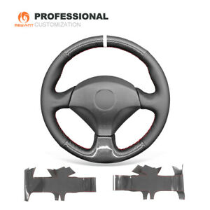 Genuine Leather Carbon Fiber Car Steering Wheel Cover For Honda S2000 Civic Si