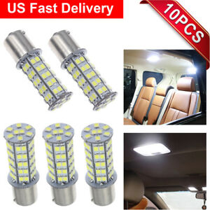 10x Super White 68 led 1156 1141 1003 Interior Light Bulbs For Rv Camper Trailer