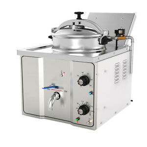 Usa Fda Commercial Electric Countertop Pressure Fryer 16l Stainless Chicken Fish
