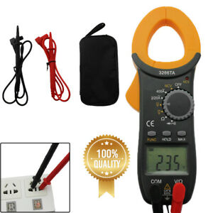 Digital Clamp On Meter Multimeter Ac Dc Voltmeter Auto Range Volt Amp Tester Hot