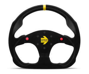 Momo Mod 30 Suede Steering Wheel Flat Bottom With Horn Buttons R1960 32shb
