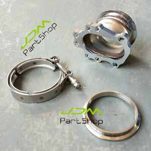 T25 T28 Gt25 Gt28 8 Bolt Turbo Downpipe Flange To 3 0 V Band Conversion Adapter
