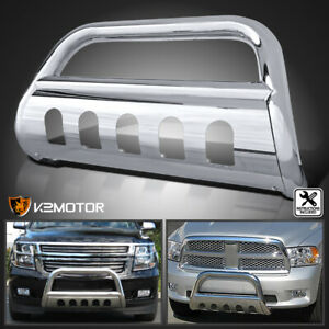 For 2005 2015 Toyota Tacoma Chrome Stainless Steel Grille Bumper Guard Bull Bar