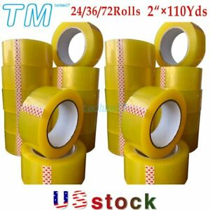 2 110yards Clear Packing Tape Packaging Carton Sealing Tape 24 36 72 Rolls Us