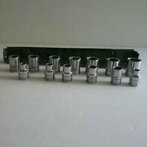 S K 3 8th Socket Set 7mm 19mm Usa