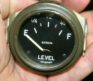 Military Stewart Warner Vintage Fuel Gas Gasoline Gauge