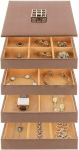 Stock Your Home Stackable Jewelry Trays Set Of 4 Bronze