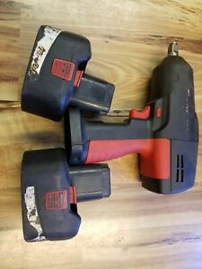 Snap On 1 2 Impact Wrench W Two 18 Volt Batteries Model Ct3850