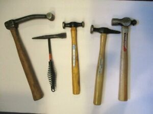 Vintage Car Body Repair Hammers Tools Lot Of 5
