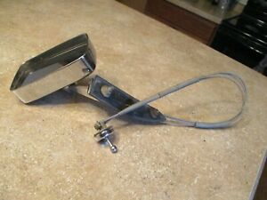 Vintage 1962 Ford Driver S Side Chrome Mirror With Remote Control