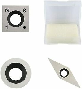 3pcs Tungsten Carbide Cutters Inserts Set For Wood Lathe Turning Tools Us Stock