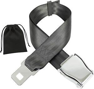 Safety Certified Airplane Seat Belt Extender Fits All Airlines Free Velour Pouch