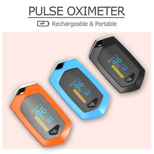 Rechargeable Digital Pulse Oximeter Oled Display Blood Oxygen Heart Rate Monitor
