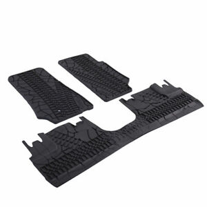Fit For 07 17 Jeep Wrangler Unlimited 4 Door Rubber Slush Floor Mats All Weather