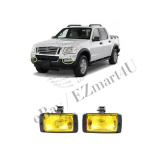 Fog Lamps Universal Pair Yellow Lights For Toyota Ford Honda Dodge Drl
