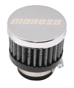 Moroso Clamp On Filter Breather 1in Id 68791