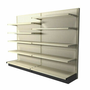Gondola Shelving Complete Sections Single Double Sided