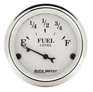 Autometer Old Tyme White 2 1 16in Fuel Gauge Fits Ford 1605