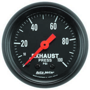 Autometer Exhaust Pressure Gauge 0 100psi Z series 2619