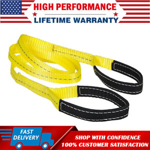 2 X 6ft Nylon Web Lifting Sling Tow Strap Eye Eye With Heavy Duty Flat Loops
