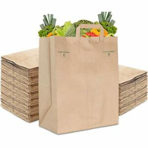 Stock Your Home 70 Lb Kraft Brown Paper Bags With Handles 50 Count