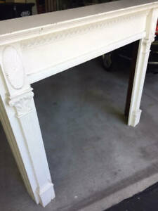 Antique Circa 1920 Neo Classical Colonial Federal Style Fireplace Mantle