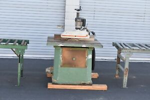Northfield No 4 Table Saw W Steff Power Feeder 2048 Feed Tables
