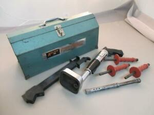 Nelson 600 Stud Driver In Tool Box With Various Accessories