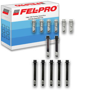 Fel Pro Cylinder Head Bolt Set For 1986 1987 Pontiac Grand Prix Felpro Sh