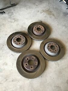 Dodge Challenger Brake Rotors Srt8 Oem X4 Fit Brembo Calipers Slotted