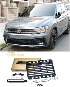 Eos For 18 Up Volkswagen Tiguan Front Bumper Tow Hook License Plate Bracket