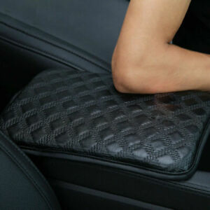 Universal Car Armrest Pad Cover Black Pu Leather Center Console Box Cushion Mat