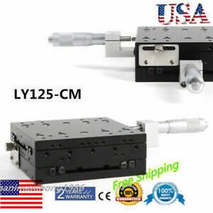 125x125mm Xy Axis Manual Slide Table Trimming Platform Linear Stage Moving New