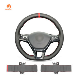 Artificial Leather Steering Wheel Cover For Vw Golf 7 E Golf Jetta Arteon Atlas