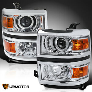 For 2014 2015 Chevy Silverado 1500 Projector Headlights Signal Lamps Left right