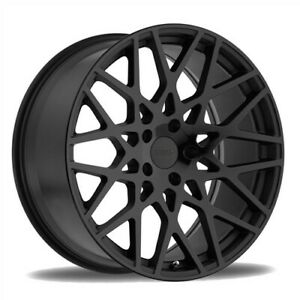 4 new Tsw Wheels Vale 17x8 5x112 32 Matte Black Gloss Black Face