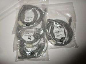Lot Of 4 90a052066 Datalogic Adc Cbl Asy Usb Type A Enhanced Coil Pot 5m Sk